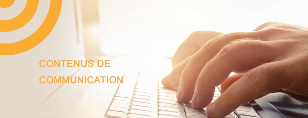 Contenus communication conception redaction